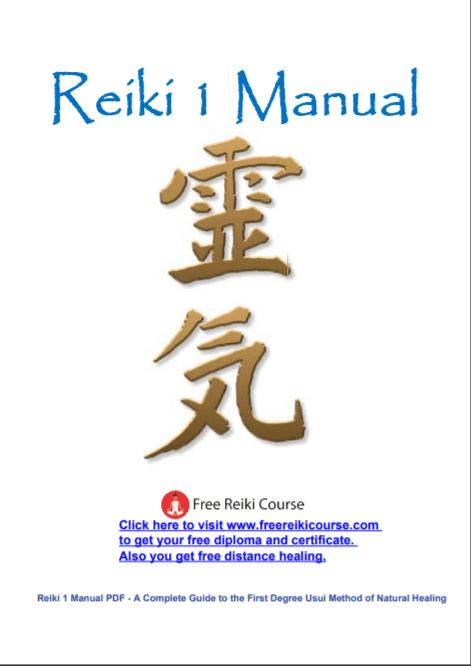 reiki 1 manual free reiki course